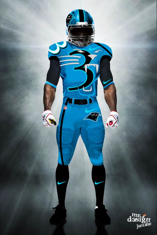 93343371a8c by Mr. Design Junkie Panthers Football Team, Football Uniforms, Sports  Uniforms, Carolina
