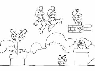 Video Game And Lego Coloring Pages Super Mario Coloring