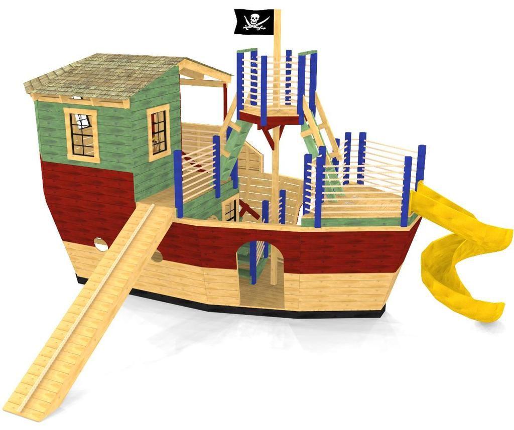 Davy Jones' Locker Pirateship Plan   Play houses, Pirate ...