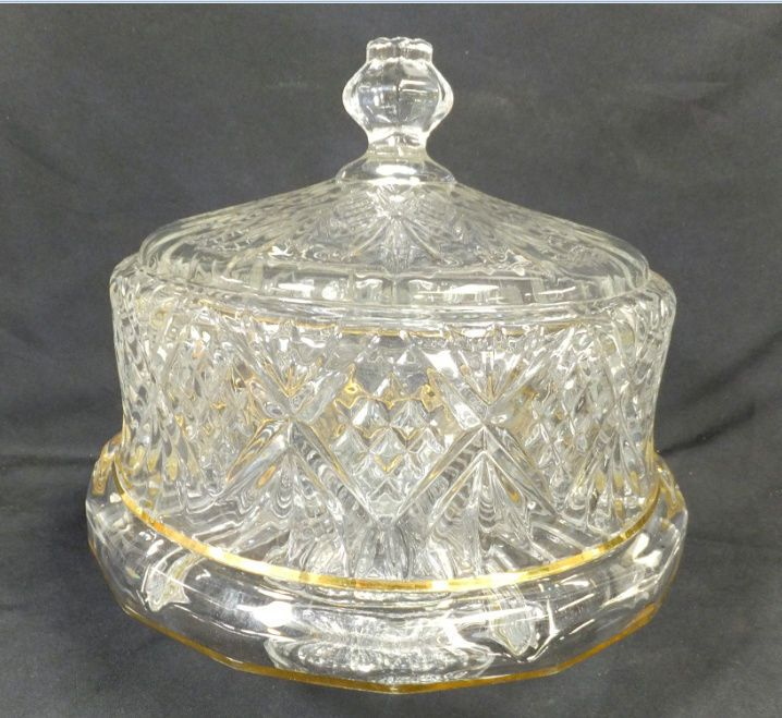Godinger Dublin Crystal Cake Plate with Dome Cover & Godinger Dublin Crystal Cake Plate with Dome Cover | Pie shop Cake ...