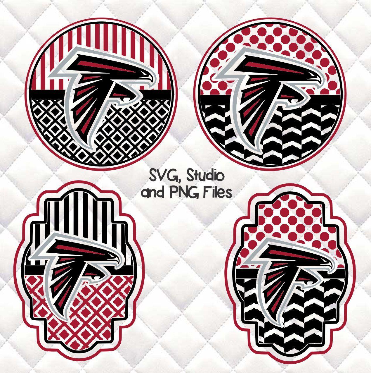 Atlanta Falcons Svg Silhouette Studio Bundle 4 Design Download Atlanta Falcons Svg Svg Silhouette Studio