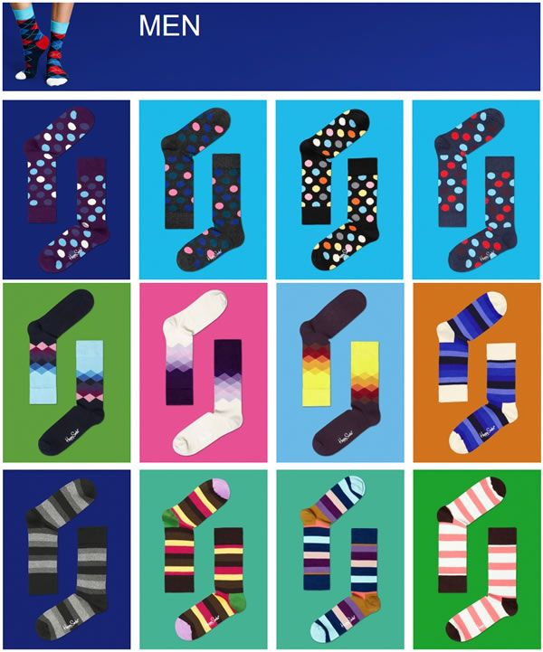 Men's Happy Socks. Unique, Quality, Cool, Stylish & Affordable.