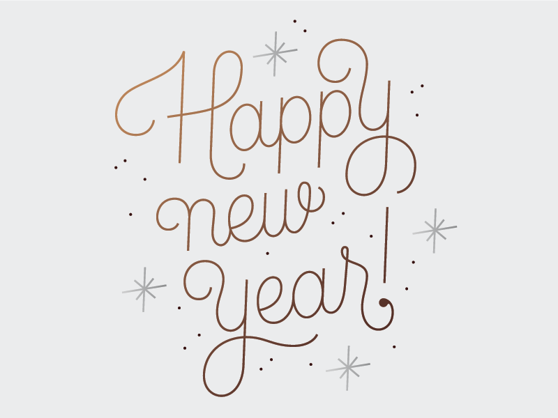 Happy New Year Font 30
