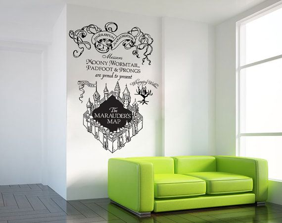 Harry Potter The Marauderu0027s Map Moony Warmtail Padfoot Prongs Wall Decal  Sticker Vinyl Wall Art ETWD Part 83