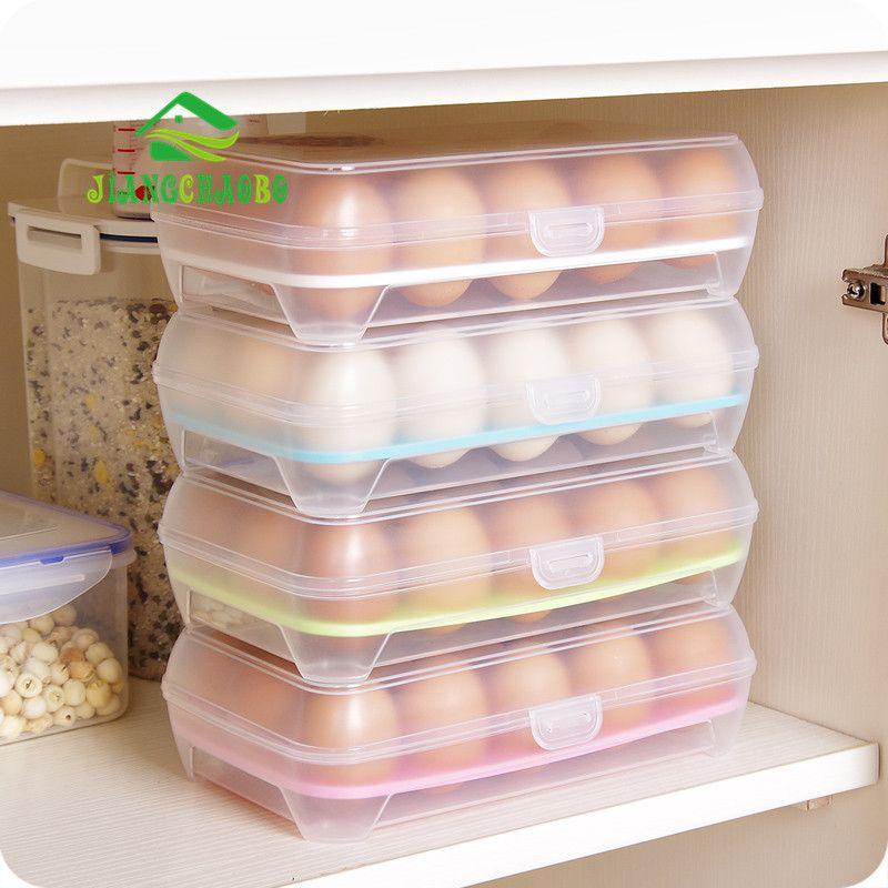 Plastic Food Chicken Egg Holder Storage Bin Box Hamper Portable Egg