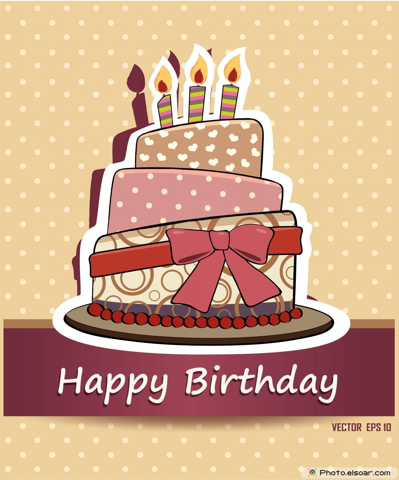 Happy birthday card Birthday cake Birthday Posters