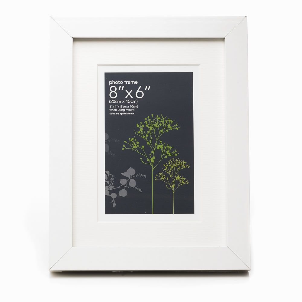 White Multi Aperture Photo Frame 9 x 6 x 4in | White wood and Woods
