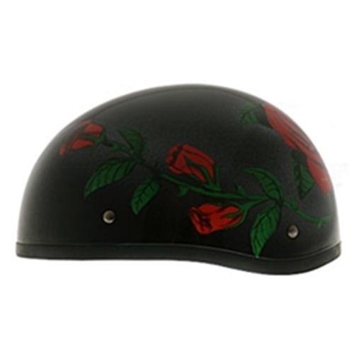 Women S Daytona Dot Skull Cap Motorcycle Helmet Roses