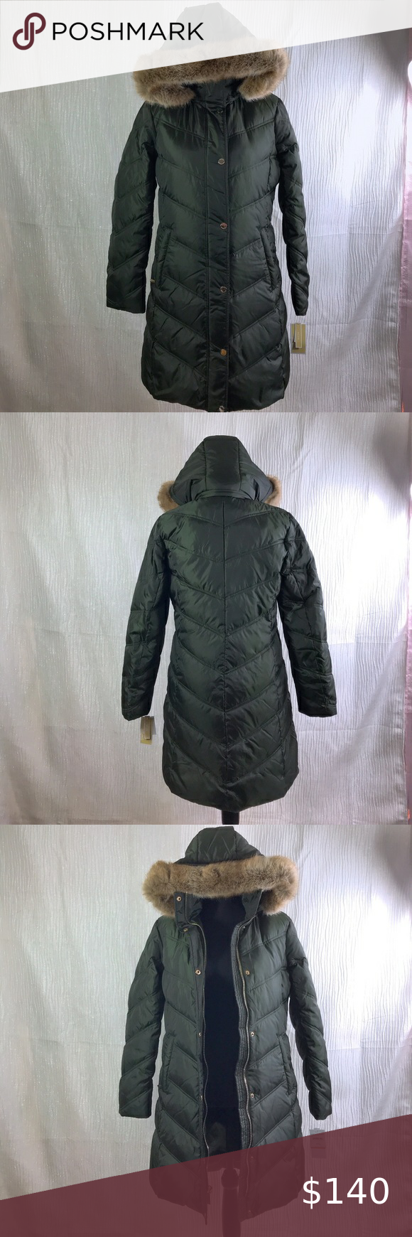 Michael Kors Missy 3 4 Down Faux Fur Trim Jacket Trim Jacket Michael Kors Michael Kors Jackets [ 1740 x 580 Pixel ]