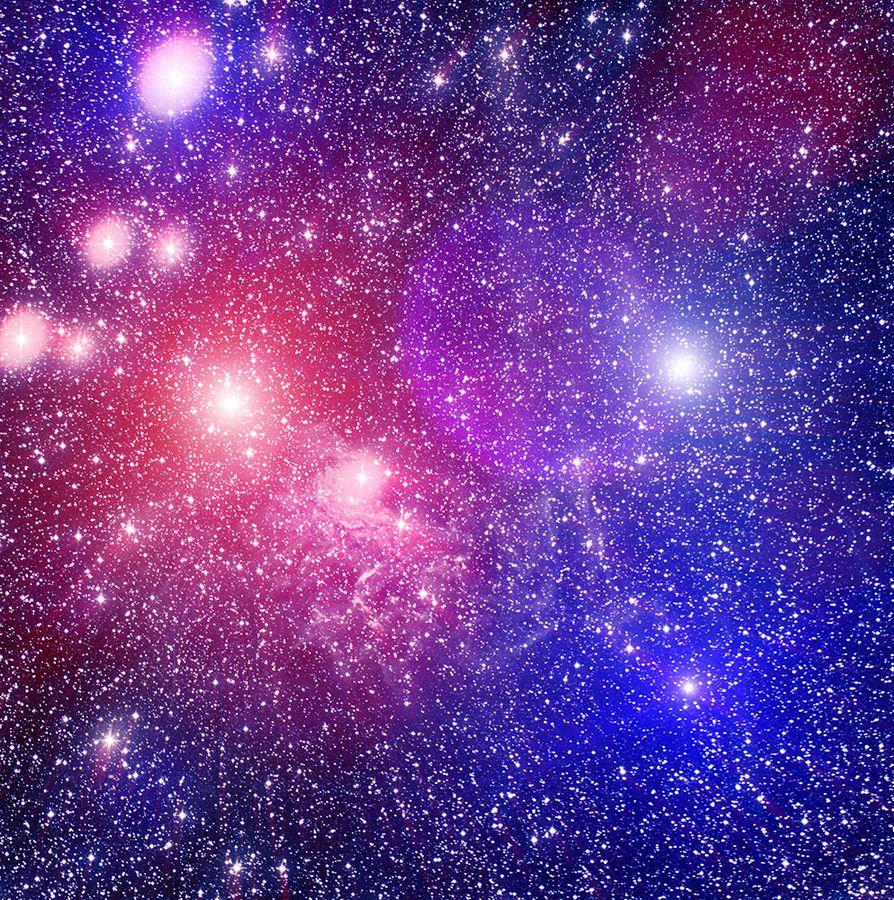 Spase Nebula And Colored Stars Colour Star Nebula Color