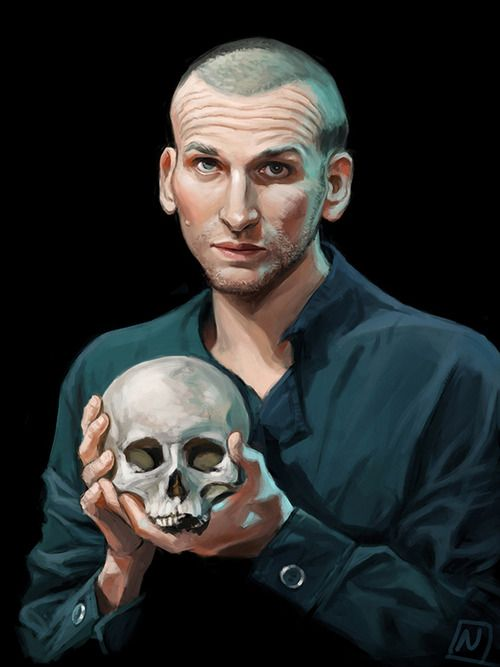tardisilm:  Christopher Eccleston as Hamlet