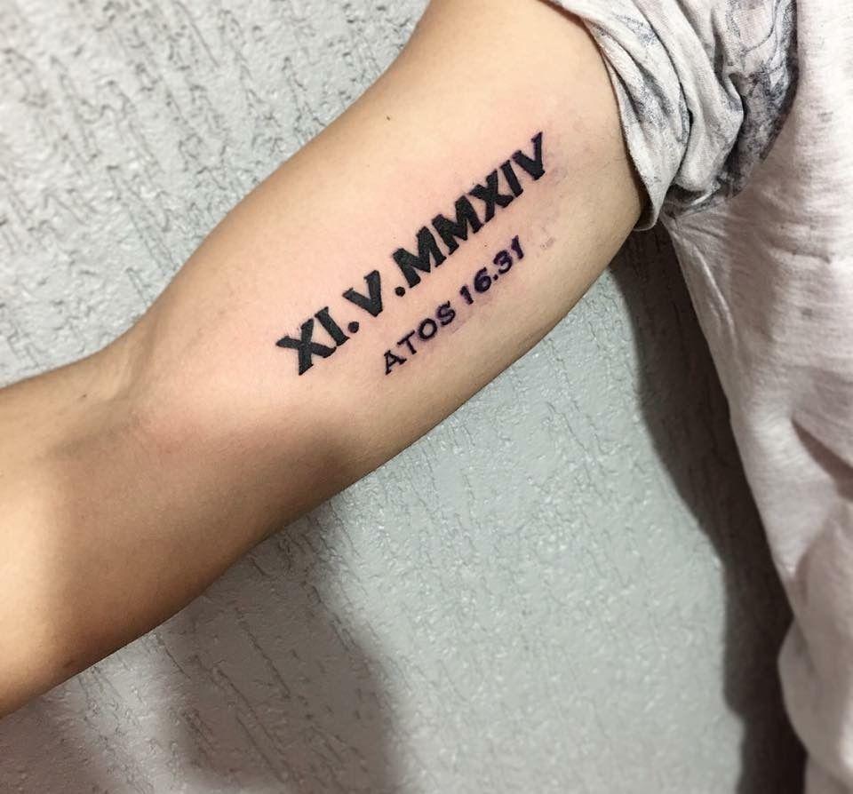 Tatuagem Numeros Romanos Tattoo Braco Tatuagem De Numeros