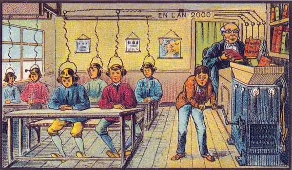 19th Century postcard predicted what year 2000 would be like ~ Kuchi FM Fotos