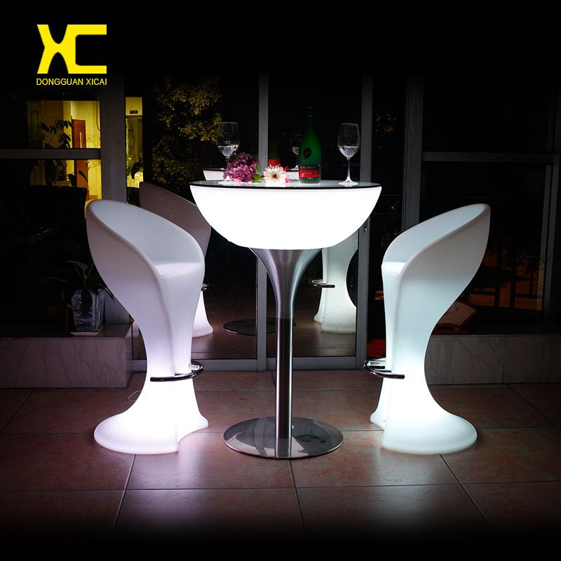 Chargeable Remote Control Illuminated Led Bar Tail Table