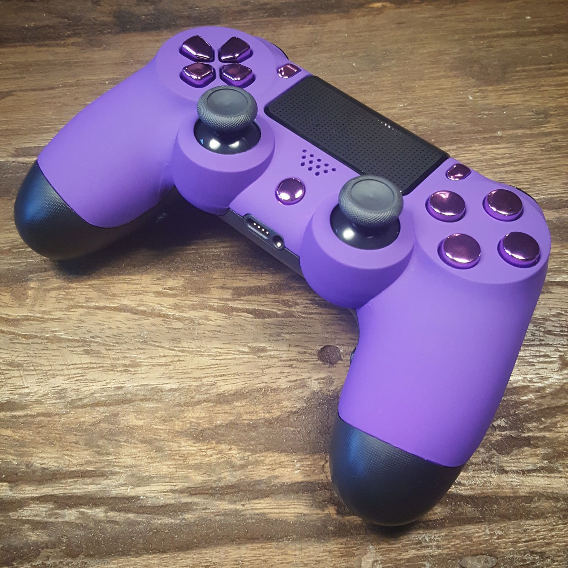 Custom Ps4 Controller With Soft Grip Front Shell Purple Buttons Xbox One And Shock Buttons Ps4 Controller Custom Playstation Controller Ps4 Controller