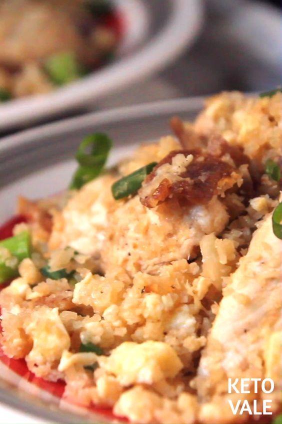 Keto Chicken Cauliflower Fried Rice Low Carb Recip