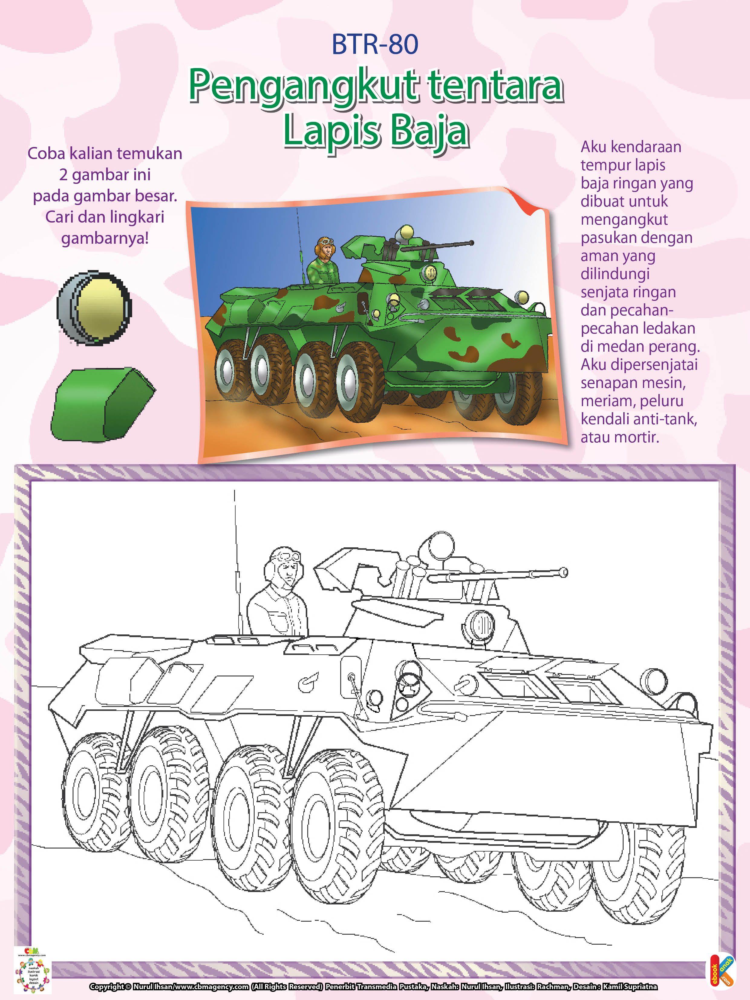 Kendaraan Perang Lapis Baja Btr80 Dengan Gambar Perang
