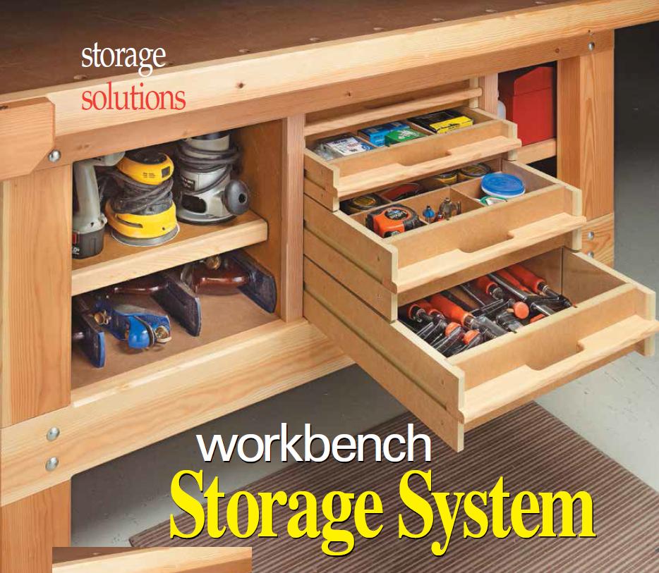 Workbench storage system garage organization pinterest for Bench tool system