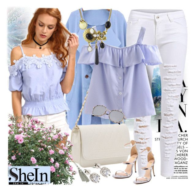 """Shirt from Shein!"" by mediteran ❤ liked on Polyvore"