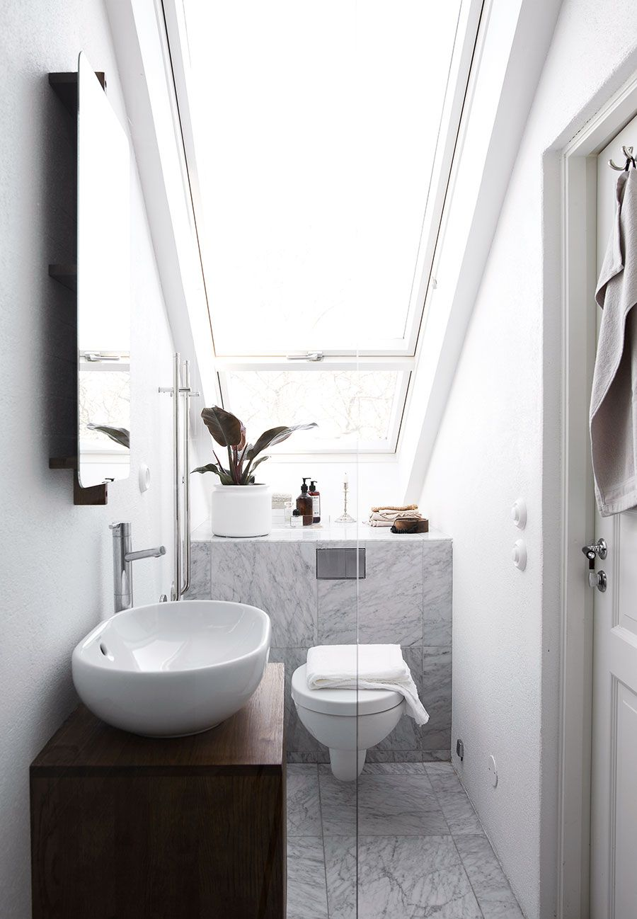 Small attic bathroom with large window   BATHROOM - BLOG   Pinterest ...