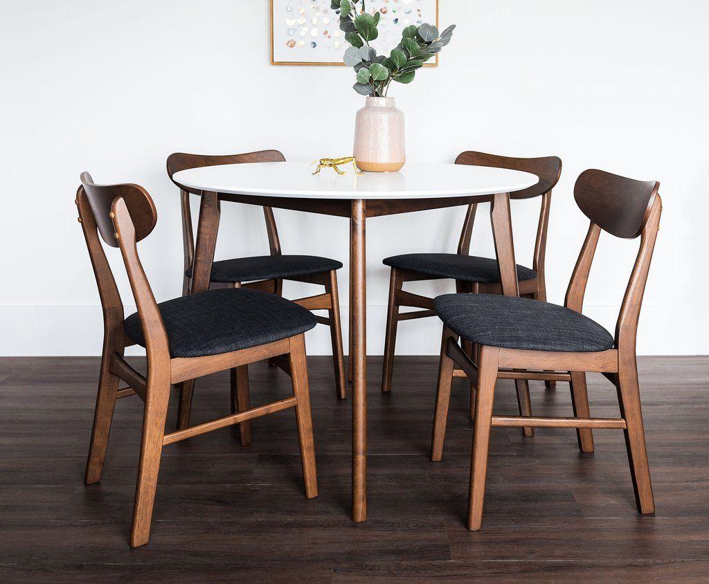 Alia Dining Table White Edloe Finch Furniture Co Round