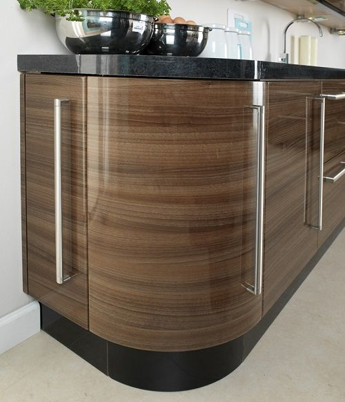 Best Apollo Walnut Gloss High Gloss Replacement Kitchen Doors 400 x 300