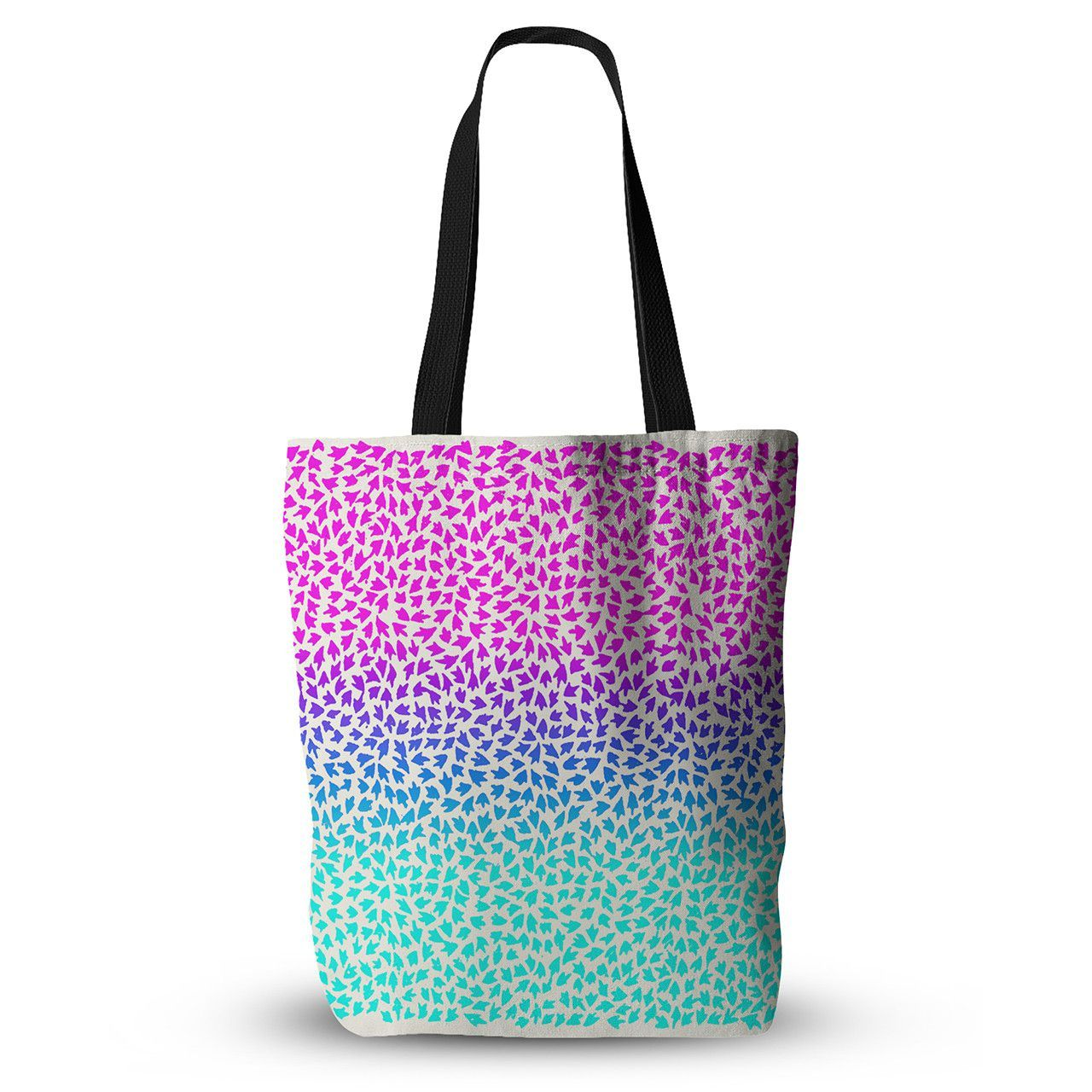 """Sreetama Ray """"Ombre Arrows"""" Blue Pink Everything Tote Bag from KESS InHouse"""