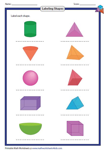 Labeling 3d Shapes Shapes Worksheets 3d Shapes Worksheets 3d Shapes