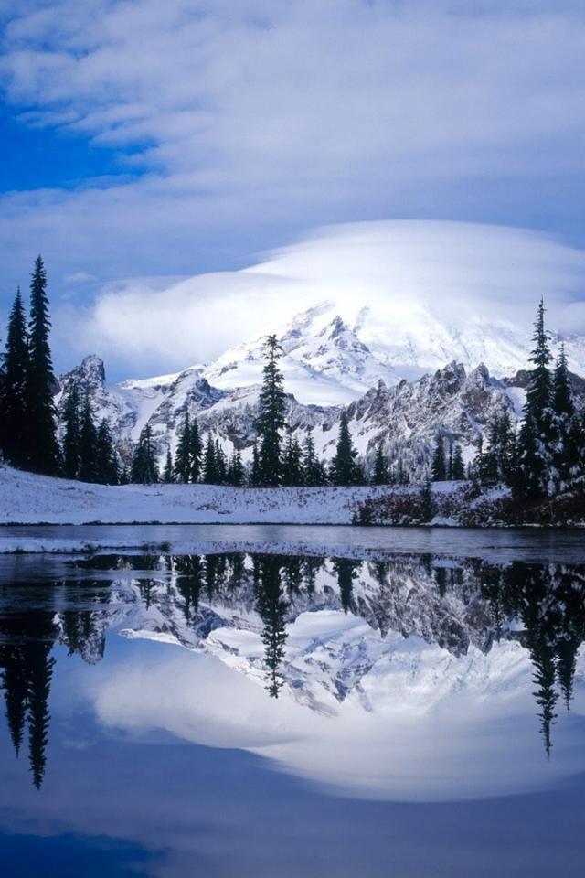 Winter Reflections Paisagem De Inverno Cenario De Inverno Papel De Parede Paisagens