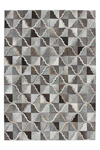 Teppich Wohnzimmer Lederteppich Carpet modernes Design RUG Lavish - Teppich Wohnzimmer Braun