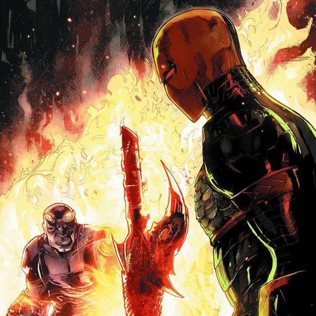 #deathstroke #dccomics #dc #comics #art #anime #batmancomics #batman #joker #vs #fire #popular #follow #nerd #geek #city