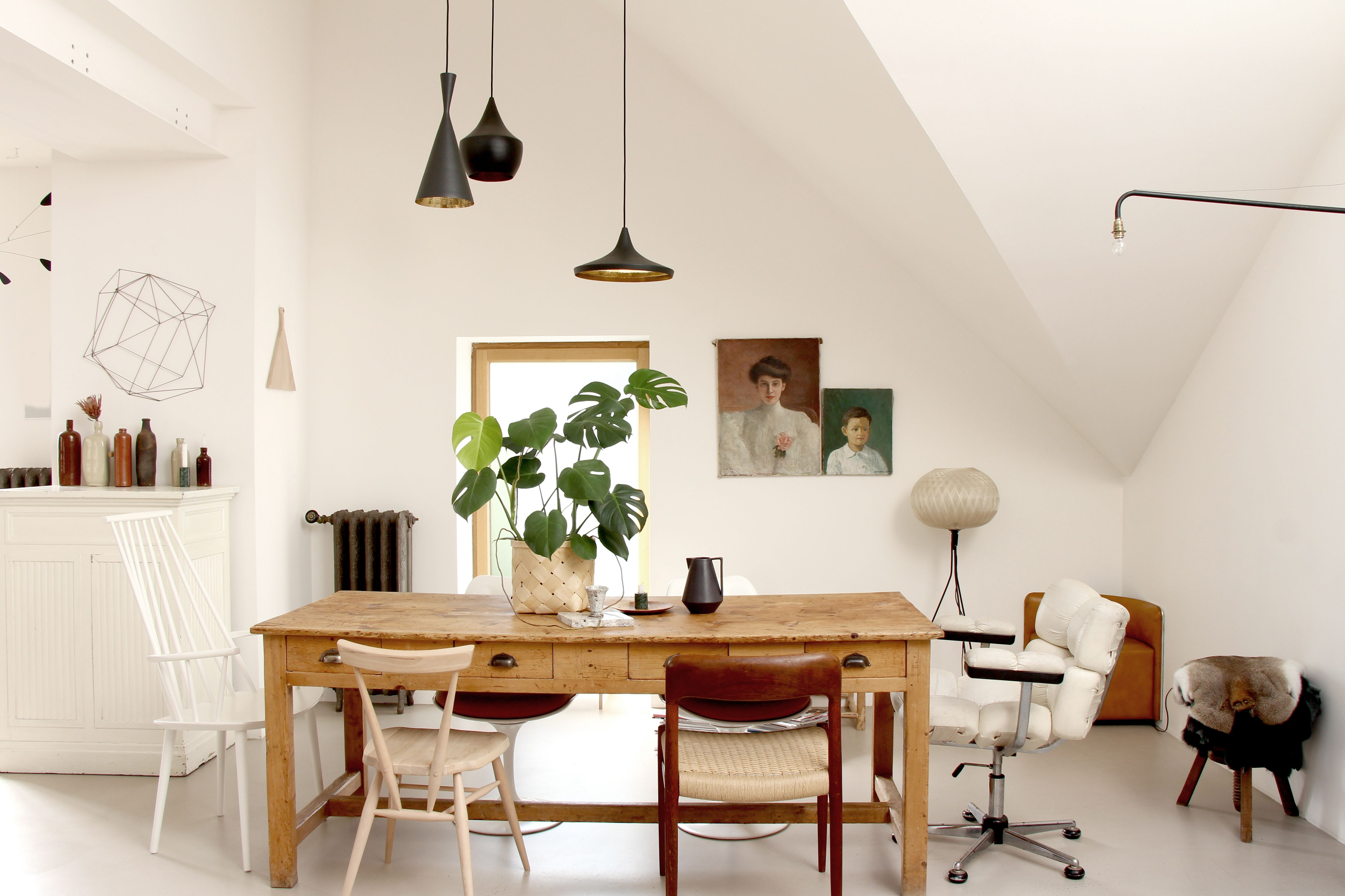 Dining Room Vintage Scandinave Style Kinfolk Nature Black Hanging