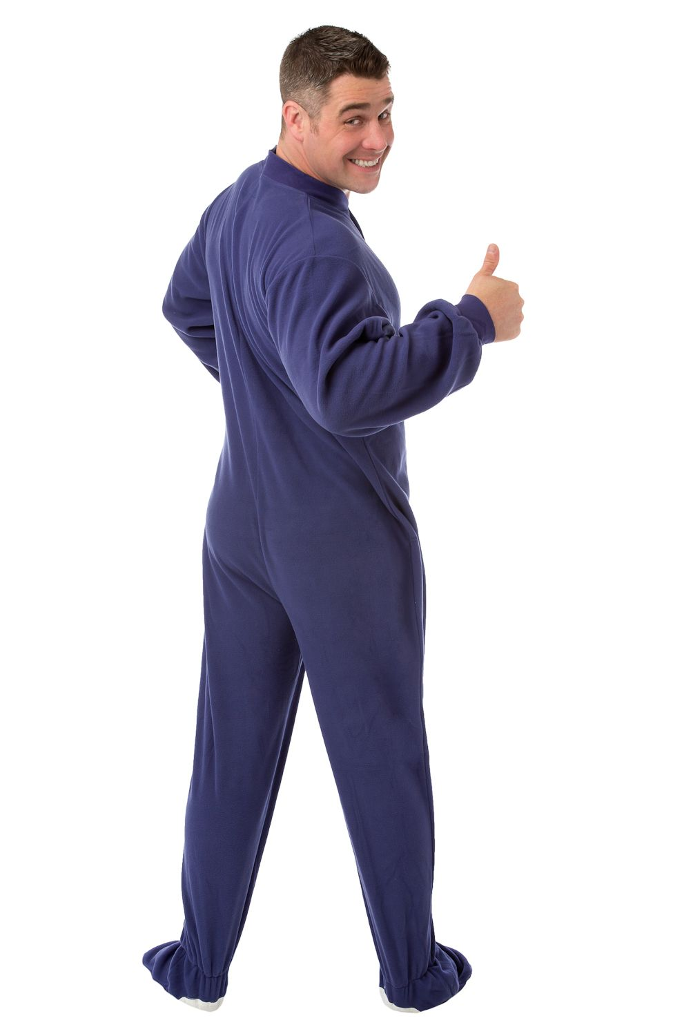 700419605c Big Feet Pjs purple micro-polar fleece footed pajamas make the ideal gift  for almost