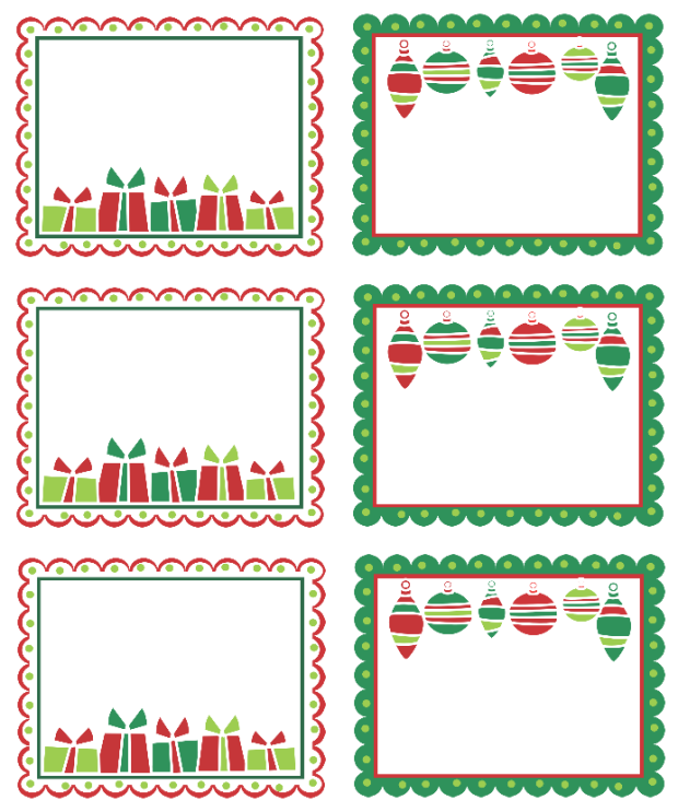 I love that you can type in these and personalize a message using it as tags instead of for Printable christmas address labels