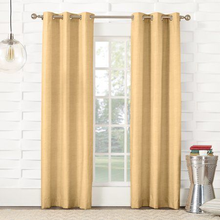Sun Zero Caleb Linen Texture Thermal Insulated Energy Efficient Grommet Curtain Panel Grommet Curtains Panel Curtains Curtains