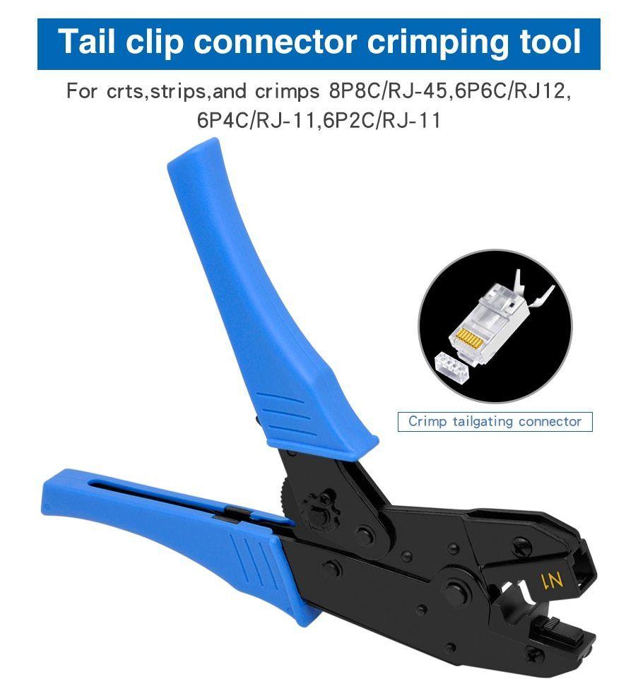 RJ45 RJ11 Network Cable Crimper Tool Cutter Pliers for 8P8C 6P6C 6P4C 6P2C