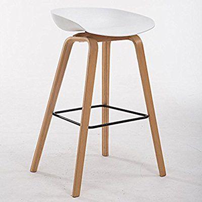 GZD Tabouret haut Tabourets de cuisine modernes avec jambes en bois
