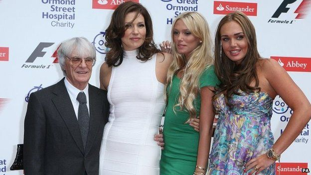 Formula 1 Mr Ecclestone and ex-wife Slavica had two daughters - Petra and Tamara - before their divorce in 2009.  29.4. 2014.   NCO eCommerce, www.netkaup.is