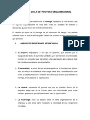 La Fábula De La Estructura Organizacional Kinder