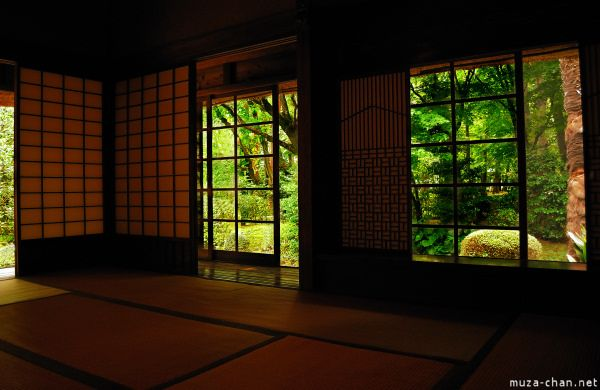Japanese house  interior at Edo Tokyo Open Air Museum Happy