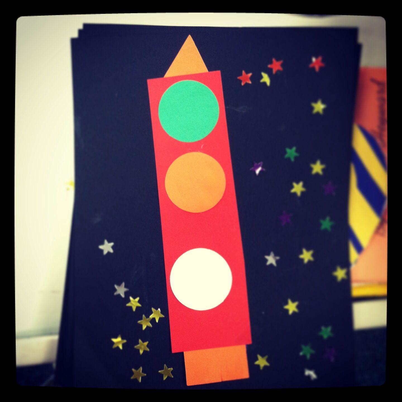 Shape Rocket Preschool Activity
