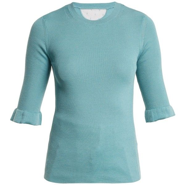 Fluted-cuff cashmere and silk-blend sweater Red Valentino Enjoy Sale Online Visit New 4BFnG
