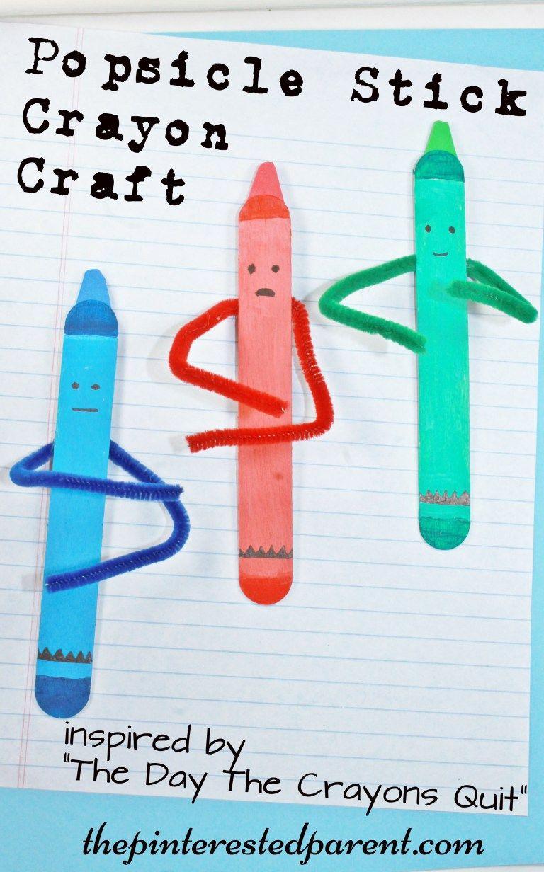 craft stick crayon craft montessori inspired activities and ideas