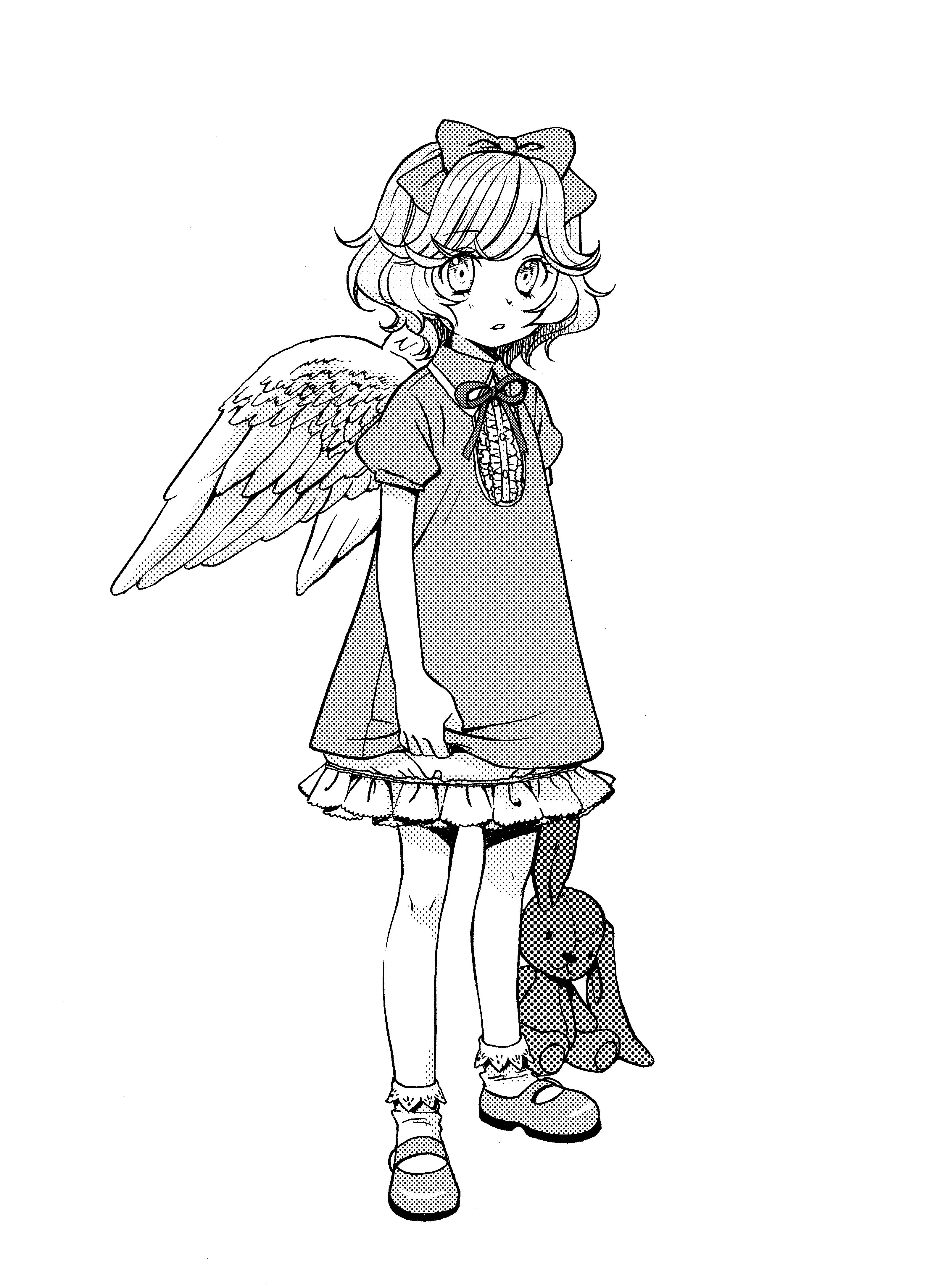 Character design for angel of the maximum ride manga