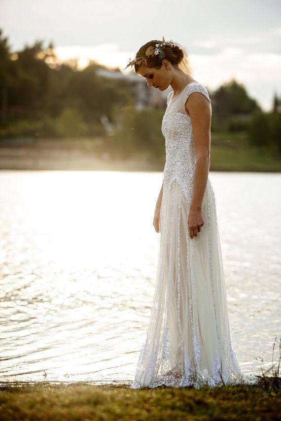 Vanille tulle dress with lace | Hochzeitskleider, Vintage ...