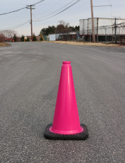 Pin on Pink Traffic Cones