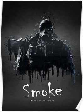 Smoke Poster With Images Rainbow Six Siege Poster Rainbow