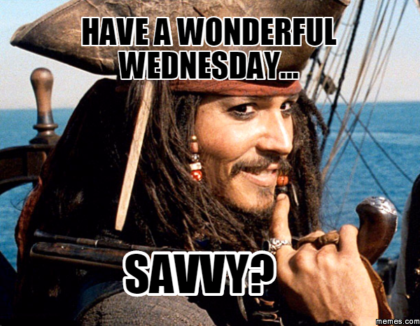 have a wonderful wednesday... savvy? | Memes.com | Wednesday Memes | Pinterest | Memes ...
