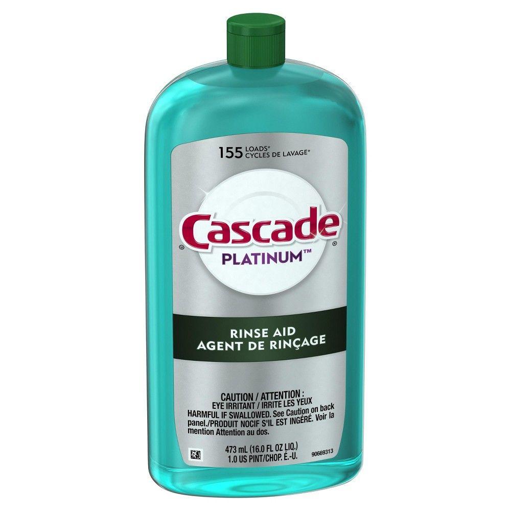 Cascade Platinum Dishwasher Rinse Aid 16 0 Fl Oz Dishwasher