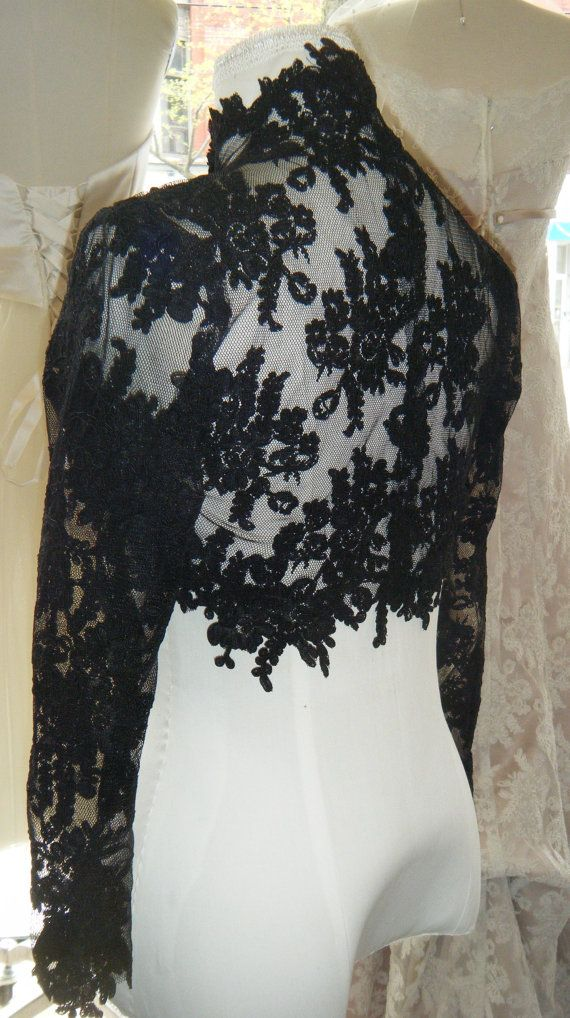big sale 18eb2 be0c3 Couture lace bolero ,,, High Fashion, Black lace | My Style ...